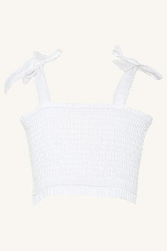 NIA TOP in colour BRIGHT WHITE