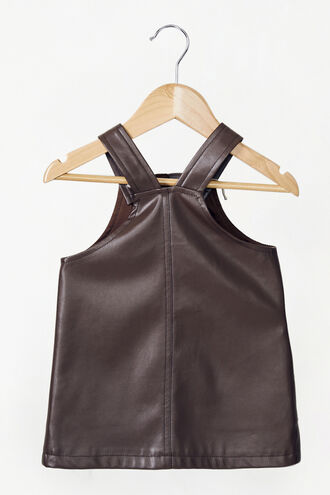 BELLE PINAFORE in colour CHOCOLATE BROWN