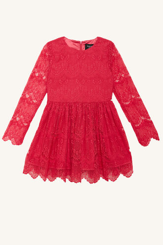 GERTRUDE LACE DRESS in colour PARADISE PINK