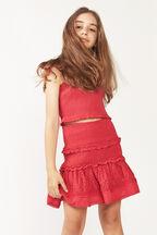 TWEEN GIRL LOLITA SHIRRED SKIRT in colour FIESTA