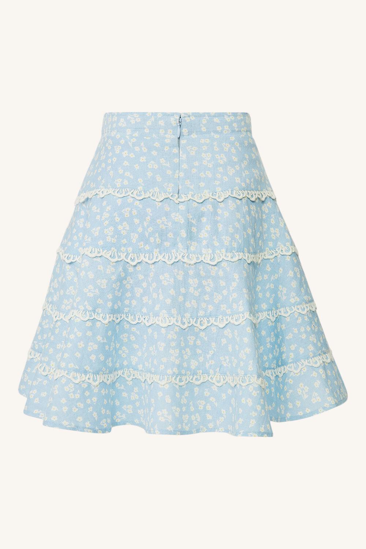 ANABELLA PRINTED MINI SKIRT in colour STAR WHITE