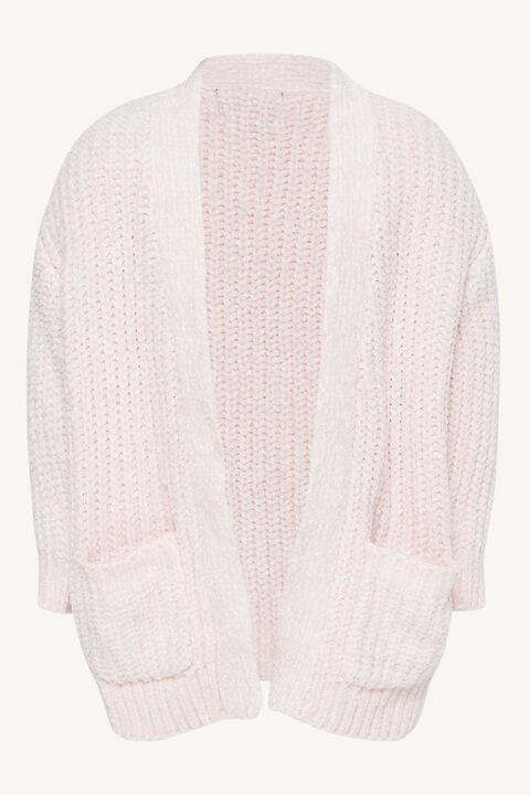 BABY GIRL maya chenille cardi in colour CLOUD PINK