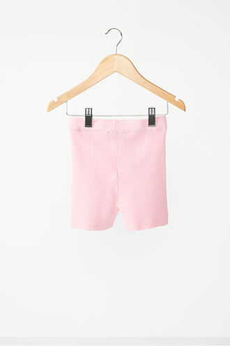 THE KNITTED SHORT in colour PINK LADY