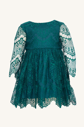 GERTRUDE LACE DRESS in colour GREEN GABLES