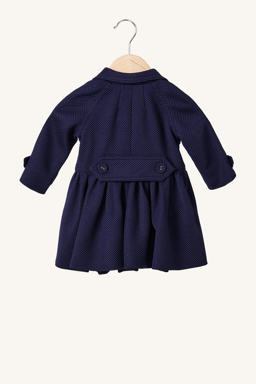 BABY GIRL MIA TRENCH in colour BLACK IRIS