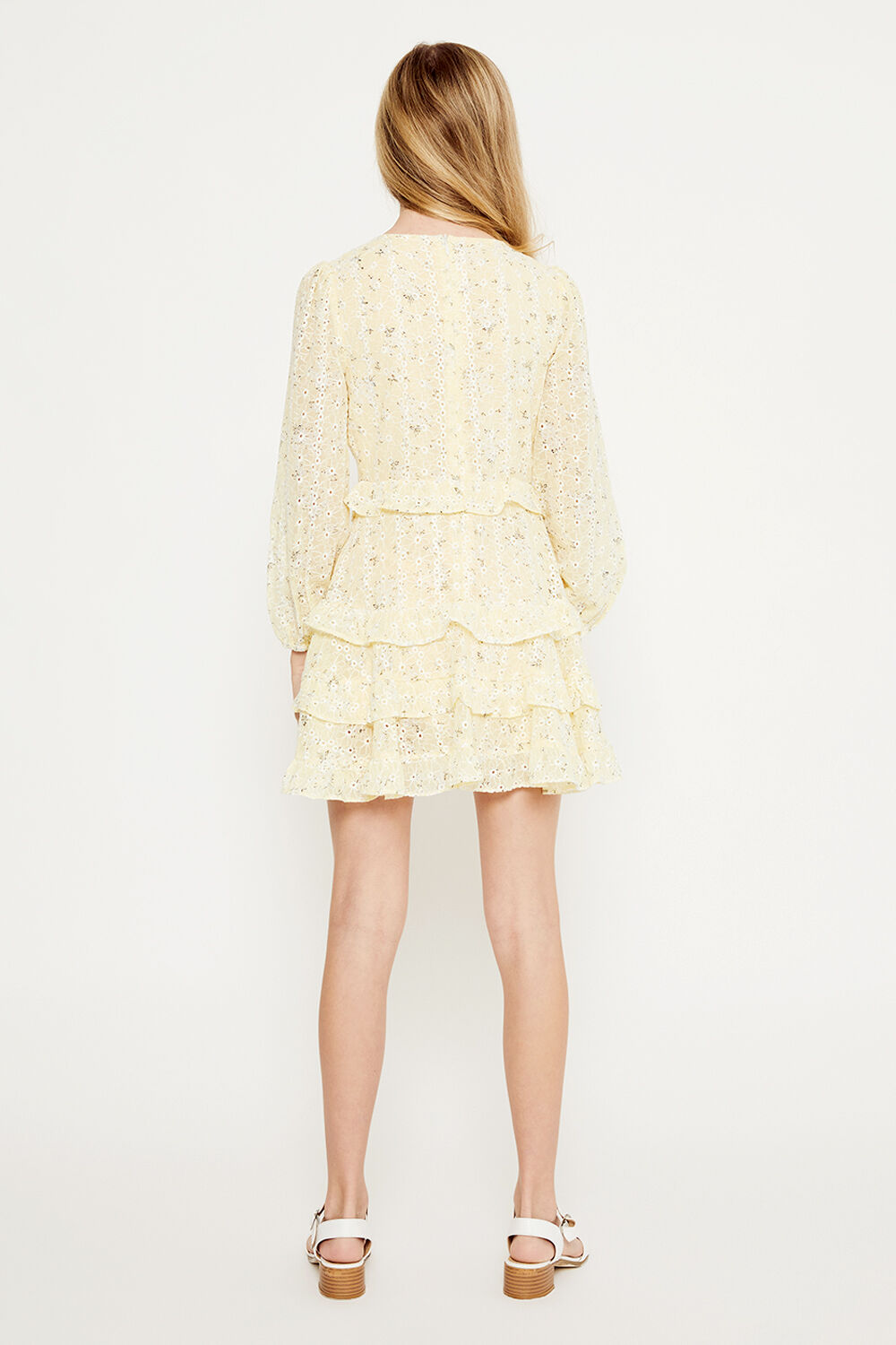 GIRLS HENRI FLORAL DRESS in colour PASTEL YELLOW
