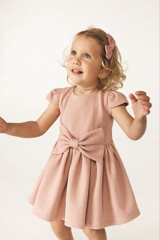 POLLY BOW DRESS in colour PARADISE PINK