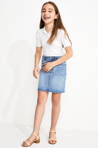 LIZA DENIM MINI in colour TRUE NAVY