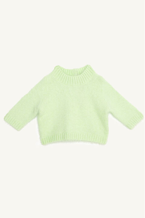 BABY GIRL SARA FLUFFY KNIT in colour LIMELIGHT
