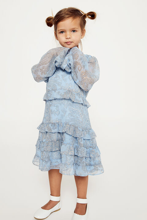 BABY GIRL HENRI PAISLEY DRESS in colour PINK CHAMPAGNE