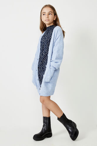 STELLA KNIT CARDIGAN in colour ILLUSION BLUE