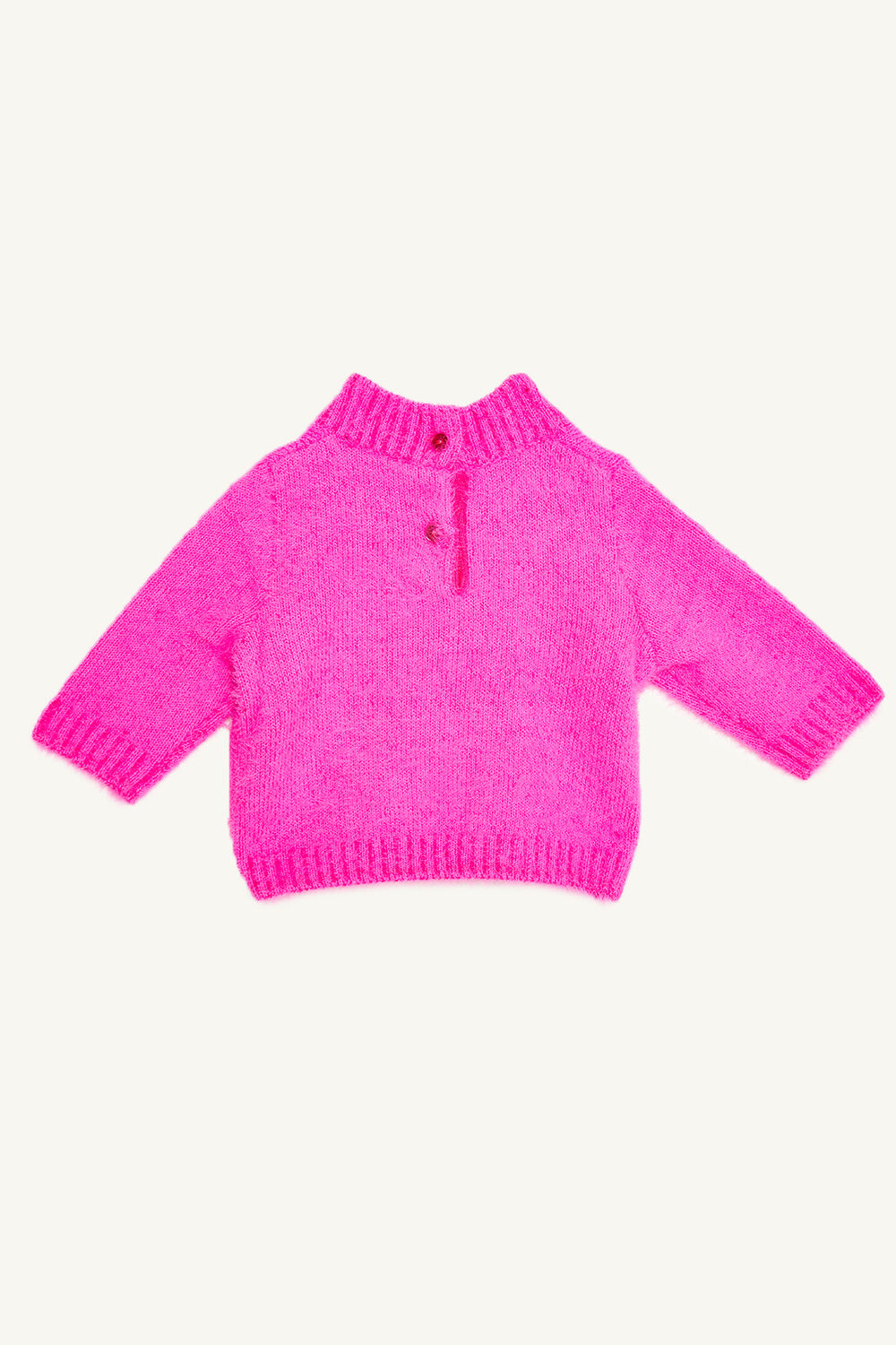 BABY GIRL SARA FLUFFY KNIT in colour BEETROOT PURPLE