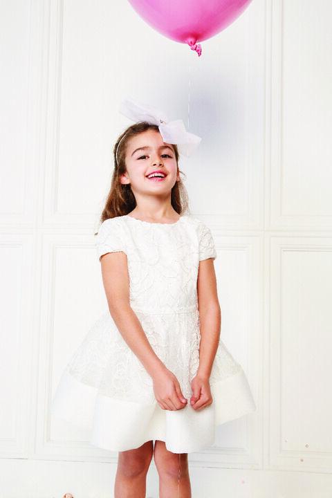 TWEEN GIRL BELLA STARLET DRESS in colour CLOUD DANCER