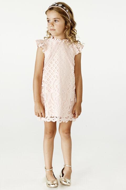 GIRLS SOPHIA SHIFT DRESS in colour PEARL
