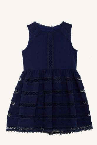 PRIM DRESS in colour MARITIME BLUE