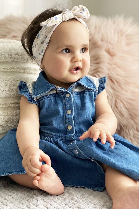 BABY GIRL DENIM GROW in colour TEMPEST