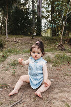 BABY GIRL  DAISY DUKE DRESS  in colour CASHMERE BLUE