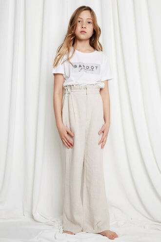 BARDOT GLITTER TEE in colour CLOUD DANCER