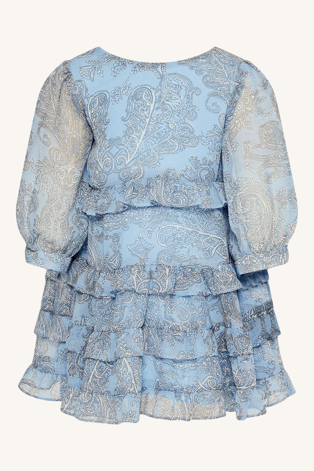 girls henri paisley dress in colour PINK CHAMPAGNE