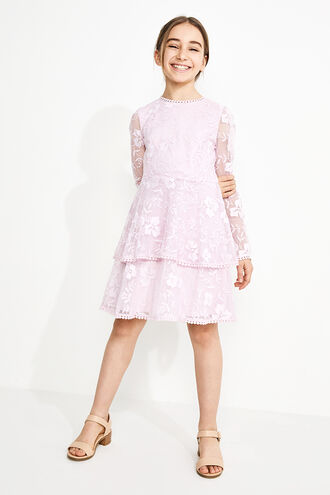 EMBER LACE DRESS in colour GRAY LILAC