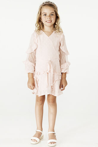 MIMI DOBBY DRESS in colour POTPOURRI