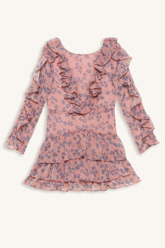 ALESSIA FRILL DRESS in colour ZEPHYR