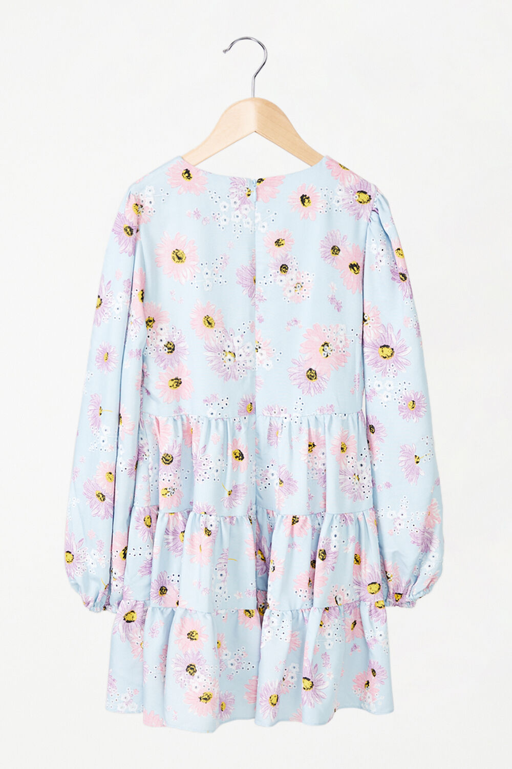 BABY GIRL ELLA BRODERIE DRESS in colour CLEMATIS BLUE