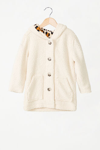 TEDDY COAT in colour CLOUD DANCER