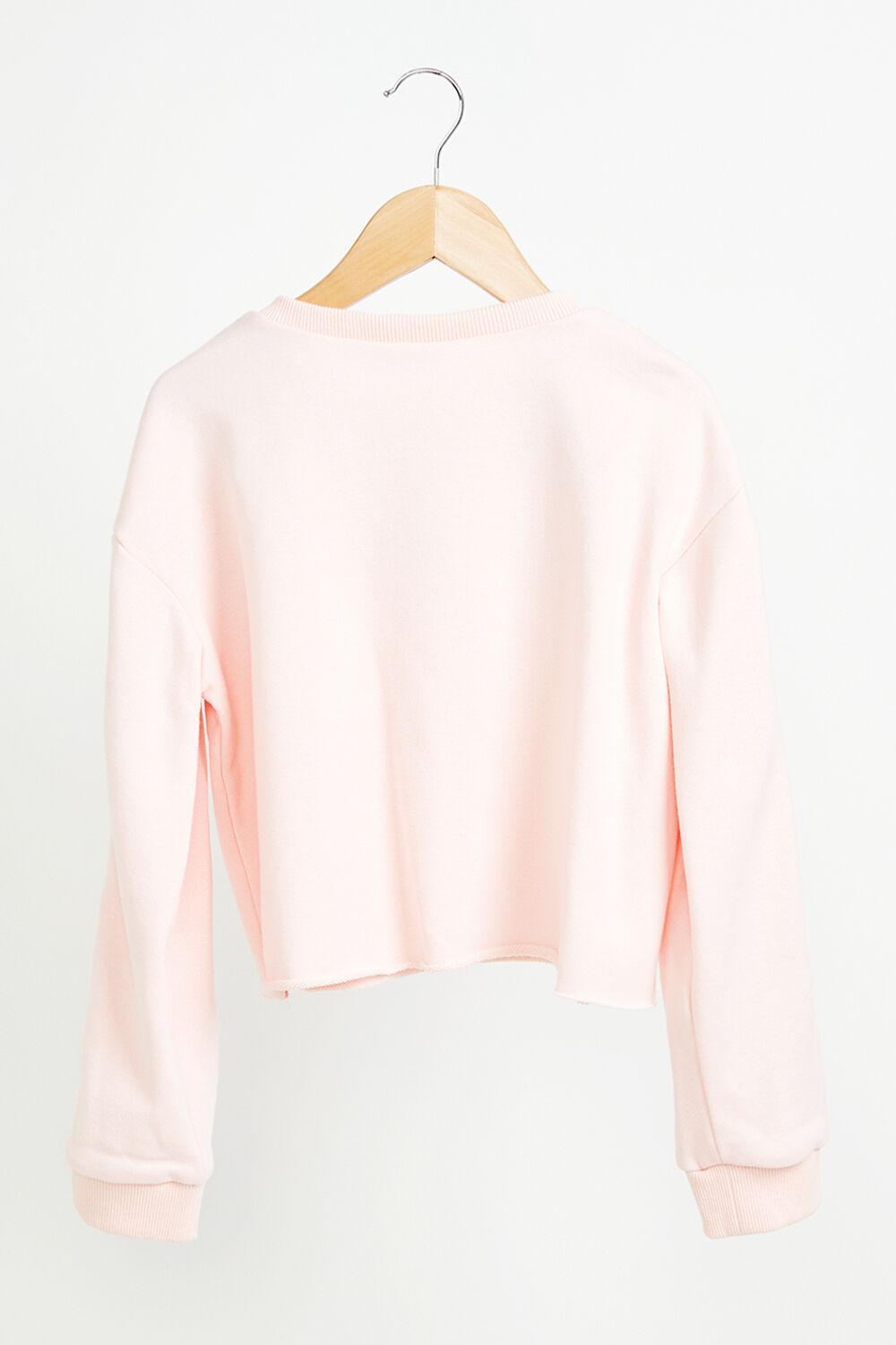 GIRLS CROPPED SWEAT TOP  in colour PETAL PINK