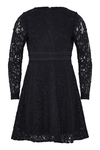 NADINE LACE DRESS in colour CAVIAR