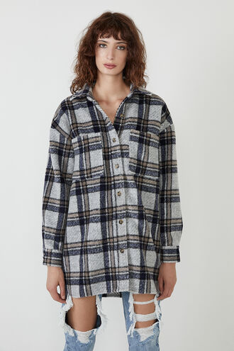 WOMENS CHECKED FLANNEL SHIRT in colour ANGEL FALLS