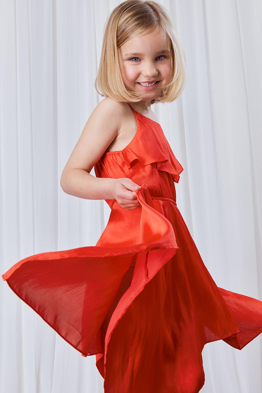 GIRLS ADDY HANKY DRESS in colour FIESTA