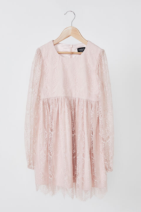 GIRLS FIONA MINI LACE DRESS in colour TUSCANY
