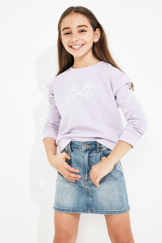 BDT SWEATER in colour GRAY LILAC