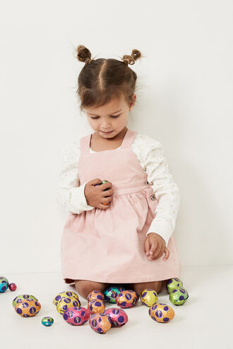 ESTELLE BABY PINAFORE DRESS in colour SEASHELL PINK