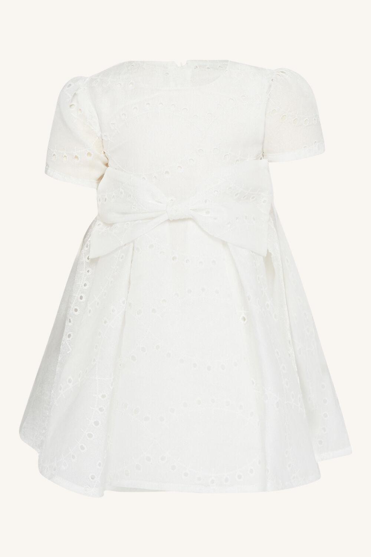 baby girl rue mini dress in colour CLOUD DANCER