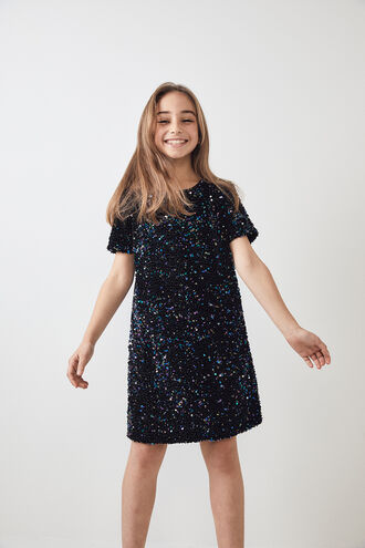 ELSIE SHIFT DRESS in colour DAZZLING BLUE