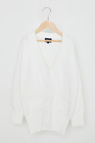 OLIVIA OVERSIZED CARDIGAN in colour CLOUD DANCER