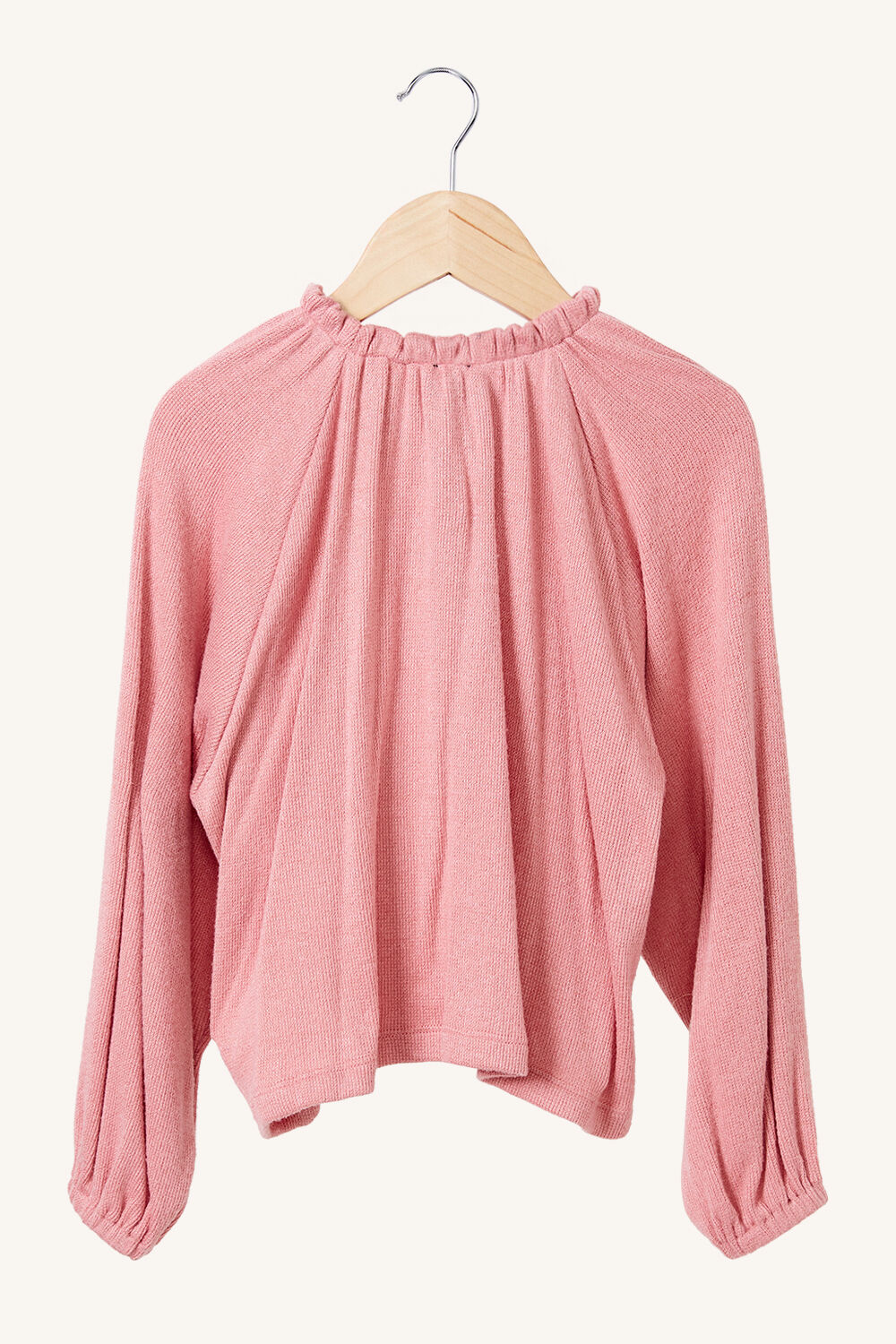 GIRLS GEORGIE JERSEY KNIT TOP in colour STRAWBERRY CREAM