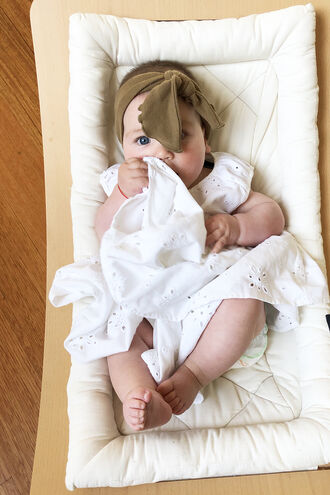 BRODERIE BABY DRESS in colour CLOUD DANCER