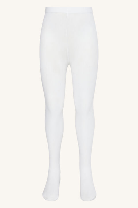 GIRLS OPAQUE TIGHTS in colour CLOUD DANCER