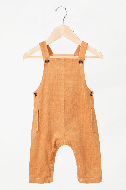 BABY GIRL LARISSA OVERALLS in colour COPPER BROWN