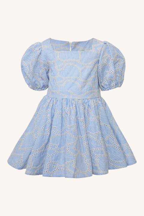 BABY GIRL MINI STRIPE DRESS in colour GRAY DAWN