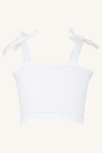NIA TOP in colour BRIGHT WHITE