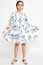TWEEN GIRL SOFIA TIER DRESS in colour CLOUD DANCER