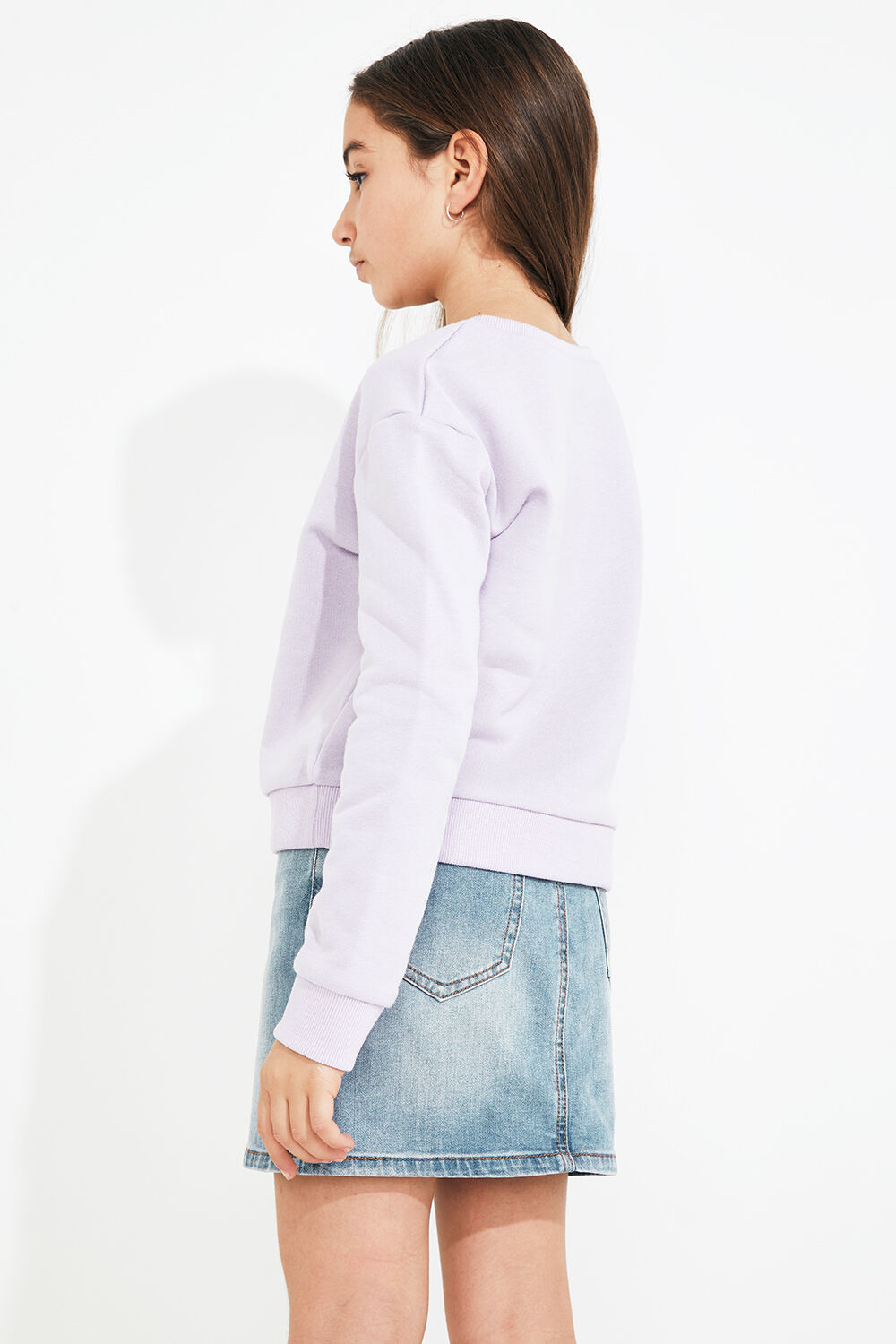JUNIOR GIRL BDT SWEATER  in colour GRAY LILAC