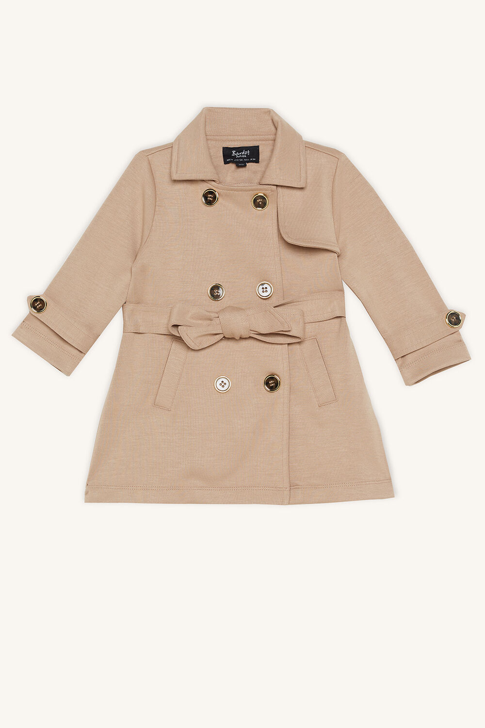 JUNIOR GIRL PONTI TRENCH in colour MOONLIGHT