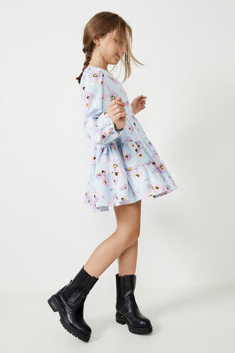 ELLA BRODERIE DRESS in colour CLEMATIS BLUE