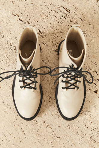 ISABELLE LACE UP BOOT in colour CREAMPUFF
