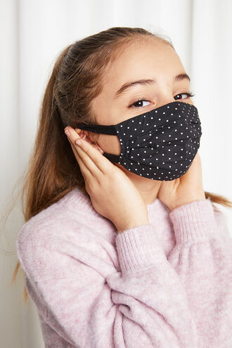 JUNIOR PLEAT FACE MASK in colour CLOUD DANCER